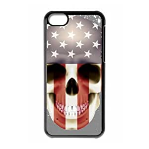 Customized Dual-Protective Case for Iphone 5C, Skull Cover Case - HL-R636029