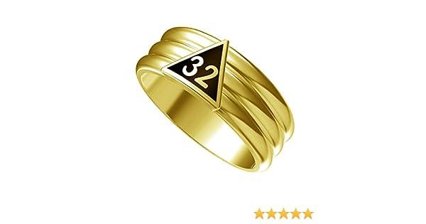 T88 Scottish Rite 32 Degree Ring 32nd Thirty Two Freemason Mason Freemason
