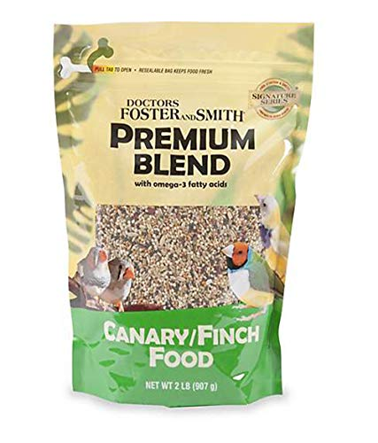DRS. Foster and Smith Premium Blend Canary/Finch Food with Omega-3 Fatty Acids, 2 pounds