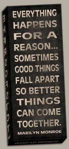 Amazoncom Marilyn Monroe Motivational Quote Everything Happens