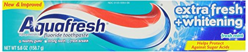 Aquafresh Extra Fresh Whitening Tube Toothpaste, 5.6 Ounce