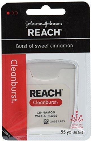 Johnson and Johnson Reach Clean Burst Waxed Floss, Cinnamon, 6 Count