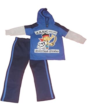 Jake and the Neverland Pirate Toddler Boys 2pc Hooded Jog Set