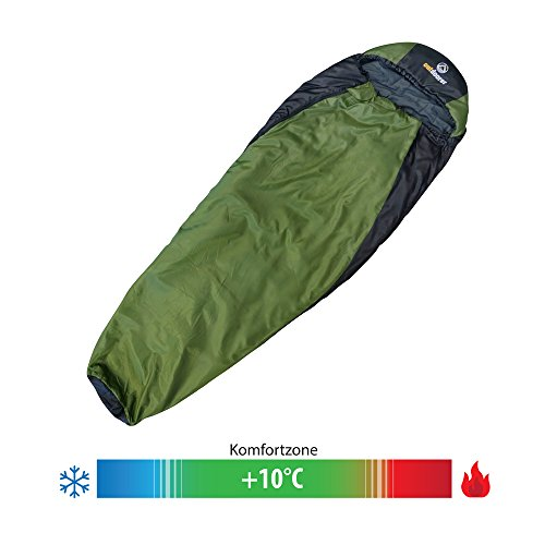 outdoorer Ultraleicht Schlafsack Trek Night – Trekking Schlafsack mit Minipackmaß