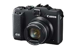 "Canon PowerShot G15 - Cámara compacta de 12.1 Mp (pantalla de 3"", zoom óptico 5x, estabilizador de imagen), negro"