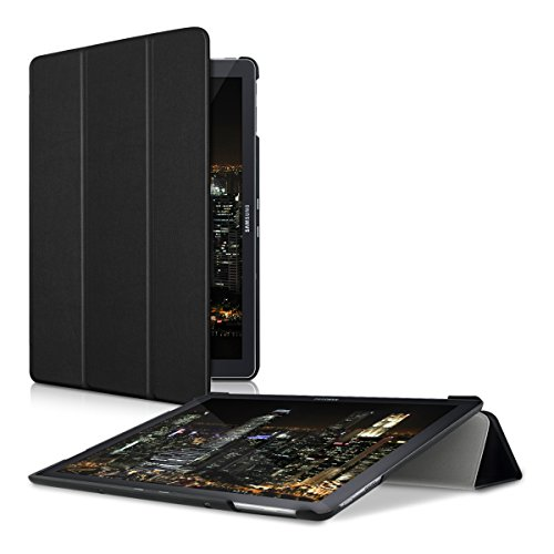 kwmobile Case for Samsung Galaxy TabPro S W700 / W703 - PU Leather Smart Cover Protective Tablet Case with Stand - Black