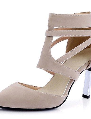 ZQ Zapatos de mujer-Tac¨®n Stiletto-Tacones / Puntiagudos-Tacones-Vestido / Casual / Fiesta y Noche-PU-Negro / Rojo / Almendra , black-us5 / eu35 / uk3 / cn34 , black-us5 / eu35 / uk3 / cn34 black-us5 / eu35 / uk3 / cn34