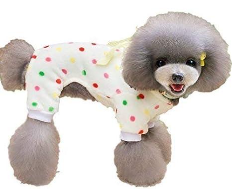mascota niños y niñas PERROS GATOS Cálido Para Invierno polar suave pijama ropa ropa disfraz S-XXL - Amarillo, Small: Amazon.es: Productos para mascotas
