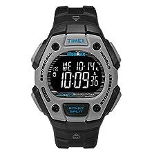 Timex Men's TW2U30200 Ironman Classic 30 Black/Gray/Blue Resin Strap Watch