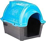 Casinha Plástica Furacão Pet Iglu N.1.0, Azul Furacão Pet para Cães