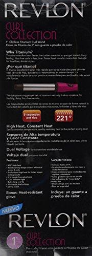 "Revlon Curl Magic 1"" Clipless Titanium Curling Wand Model #RVIR1084C"