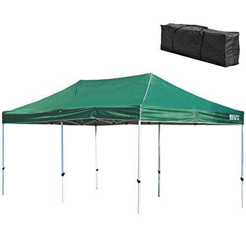 옷장의 겐 [특대 사이즈! ] 원터치 타프 텐트 ENDLESS BASE [3m × 6m] 방수 가공 UV 컷 2 단계 조절 (팩, 로프 포함, 전용 수납 케이스 포함) 19000020
