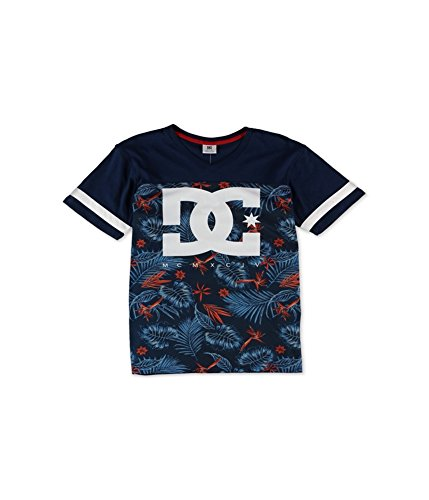 DC Men's Shoe CO INTERCEPT V-Neck Tee (XL, Navy)