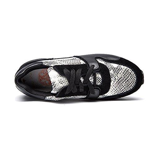 Zapatillas De Deporte Atléticas Para Mujer Zapatillas De Deporte De Moda Modelo De Piel De Serpiente Blanco