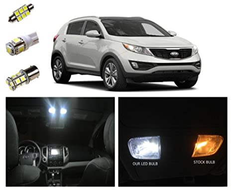 Amazon.com: 2011-2016 Kia Sportage LED Package Kit Interior + Tag + ...