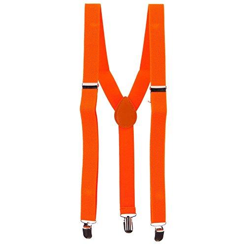 (Fashion Suspender - Neon Orange)
