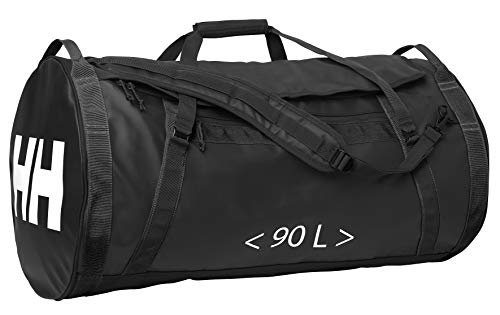 Helly Hansen Duffel 2 Water Resistant Packable Bag with Optional Backpack Straps, 90-liter (Large), 990 Black