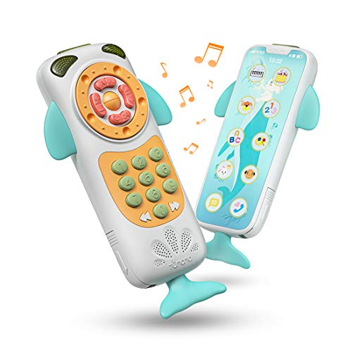 TUMAMA Baby Toys,BabyMobile Phone Toy Early Educational Toys,Learning, Birthday Gift for 9, 12, 18 Month, 1, 2 Year Olds, Infants, Boys, Girls (White) ()