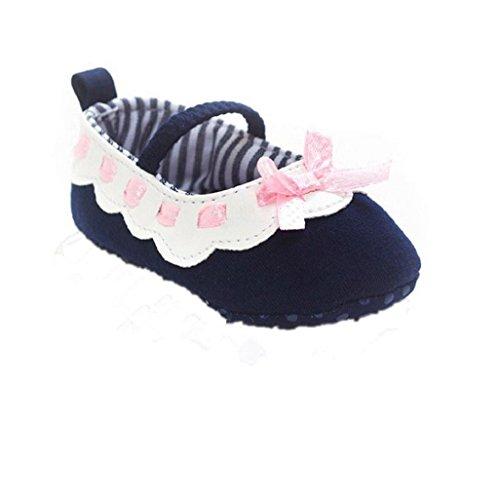 Bebé Prewalker Zapatos Auxma Baby Girl Bowknot Zapatos,Zapatillas antideslizantes suaves zapatos para niños pequeños para 0-6 6-12 12-18 meses Armada