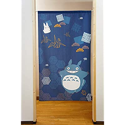 Cosmos Studio Ghibli My Neighbor Totoro noren(Japanese Curtain) Bring Good Luck Series Crane Tortoise 85x150cm 10733: Home & Kitchen