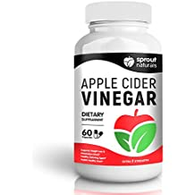 Extra Strength Apple Cider Vinegar Supplement - Natural Detox, Weight Loss, and Metabolism Booster - Potent 1300mg dose of Pure Apple Cider Vinegar - Manufactured in USA - 60 Capsules