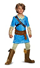 Link Breath Of The Wild Deluxe Costume, Blue, X-Large (14-16)