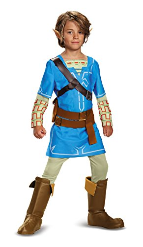 Blue Costumes Boots (Link Breath Of The Wild Deluxe Costume, Blue, X-Large (14-16))