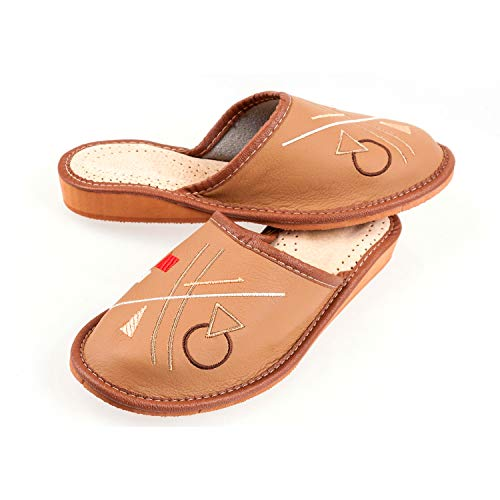 Ladies//Womens ECO Leather Slippers Size:3,4,5,6,7,