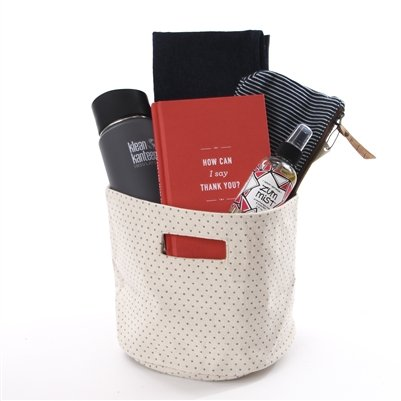 Thank You Gift Basket - Red and Black - Eco-friendly & Fair Trade by our green house