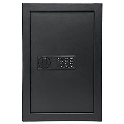 "Ivation Wall Safe, Digital Keypad – 20.6"" x 13.8"" x 3.7"" Home Security Box, Backup Keys & Mounting Kit"