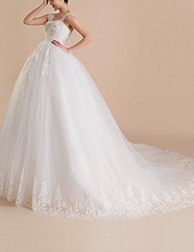 Strassstein mit Hochzeitskleid HS1027 Schnürung Schleppe Umstandsbrautkleid Pailletten Lactraum u Organza 1qpwSCx7
