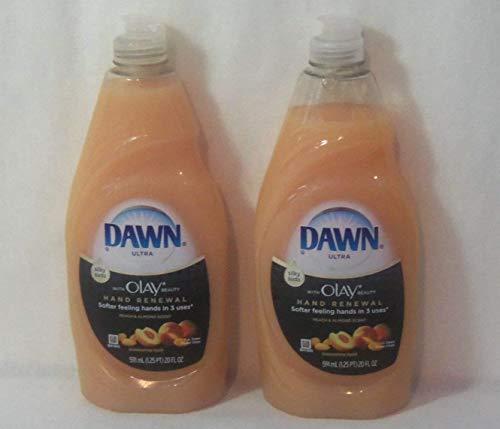 Dawn Ultra Hand Renewal 18 Ounce Dishwashing Liquid Peach & Almond (2 Pack)