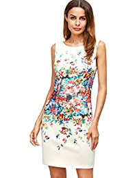 Floerns Women's Floral Print Sleeveless Sexy Bodycon...
