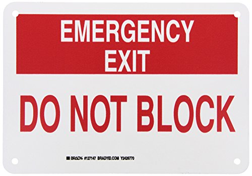 Brady 127147 Fire Safety Sign, Legend