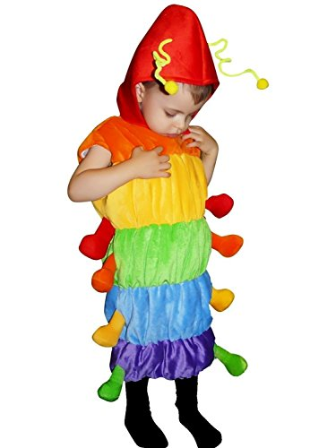 Fantasy World Boys/Girls Caterpillar Halloween Costume, Size 6, F83 (Creative Cute Women Halloween Costumes)