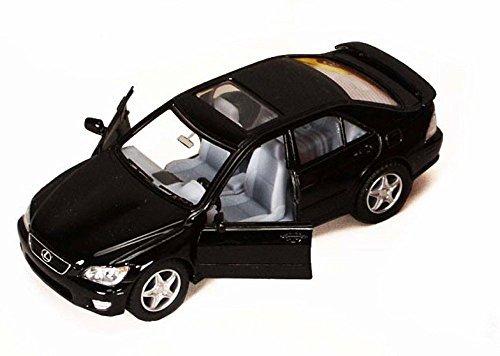 Lexus IS300, Black - Kinsmart 5046D - 1/36 scale Diecast Model Toy Car (Brand New, but NO (Sedan Diecast Model)