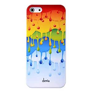DEVIA Colorful Water Drops Pattern PC Material High Quality Hard Case for iPhone 5/5S
