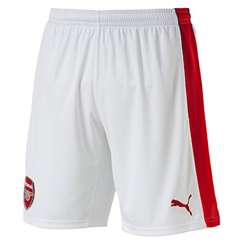 PUMA Men's AFC Replica Shorts with Innerslip, White, Medium - Arsenal Short