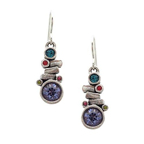 (Patricia Locke Celebration Multi Color Gila Swarovski Crystal Silver Plated Hook Earrings)