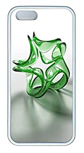 iPhone 5 5S Case 3D Green Crystals TPU Custom iPhone 5 5S Case Cover White