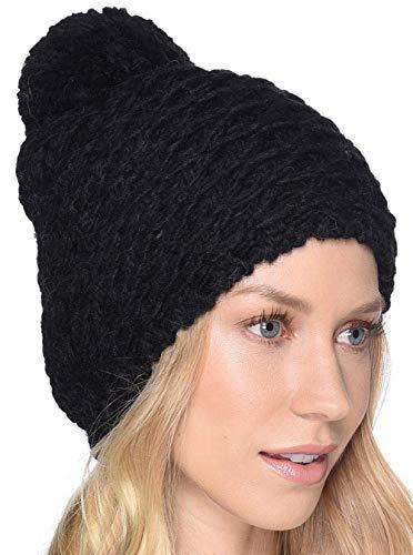 - UGG Women's Yarn Pom Knit Hat Black One Size