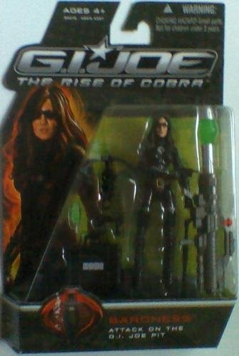G.I. Joe The Rise of Cobra, Movie Action Figure, Baroness Attack on the G.I. Joe Pit, 3.75 Inches