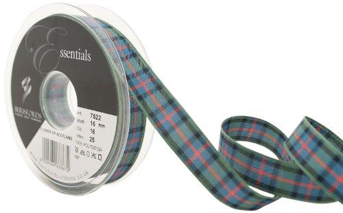 Berisfords 7622 25 m x 16 mm Traditional Tartan Ribbon, Flower of Scotland (Scottish Tartan Ribbon)