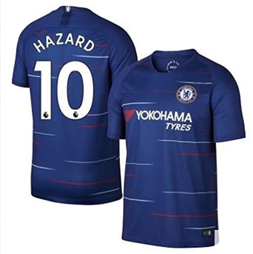 海賊こっそり詳細にサッカー2018 チェルシーユニフォーム 上下セット HAZARD 背番号10 HAZARD 大人用 (大人,HAZARD) (XL)