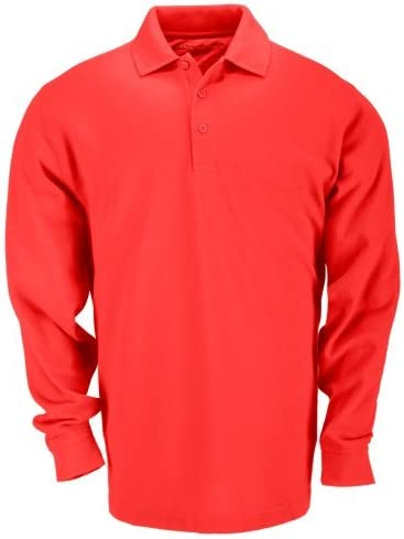 5.11Tactical Professional Polo Shirt Long Sleeve T-Shirt red Range ...