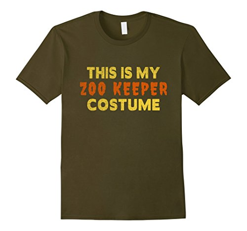 Men's Halloween Shirt - This is My Zoo Keeper Costume Small (Zoo Keeper Costume Men)