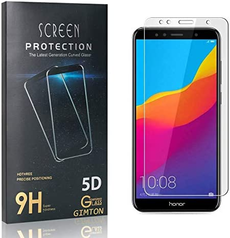 GIMTON Displayschutzfolie für Huawei Honor 7A, Ultra Dünn HD Panzerglasfolie mit 3D Touch, 9H Härte Schutzfilm aus Gehärtetem Glas für Huawei Honor 7A, 4 Stück