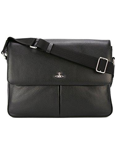 Price comparison product image Vivienne Westwood Men's 131176265 Black Leather Briefcase