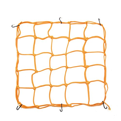 uxcell 6 Hooks Hold Bungee Cord Yellow Motorcycle Cargo Net Mesh 40 x 40cm by uxcell