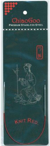 ChiaoGoo 6009-4 9-Inch Red Line Circular Knitting Needles, 4/3.5mm